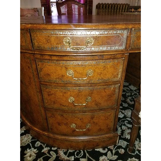 Mid 20th Century 20th Century Regency Maitland Smith Partner Desk For Sale - Image 5 of 8