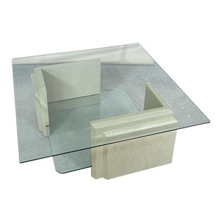 Layered Glass Coffee Table For Sale