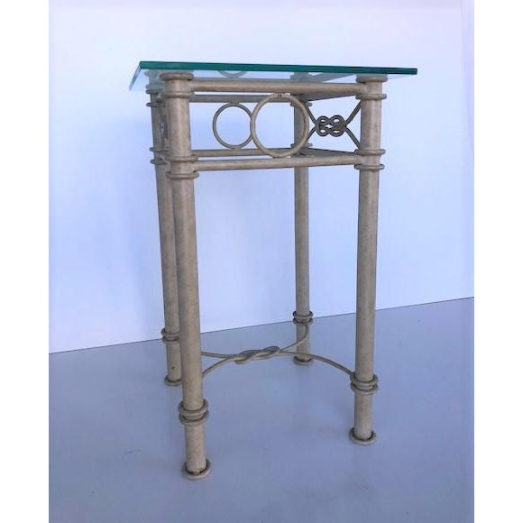 Vintage Dickinson Style Knotted Metal Pedestal For Sale In Miami - Image 6 of 9