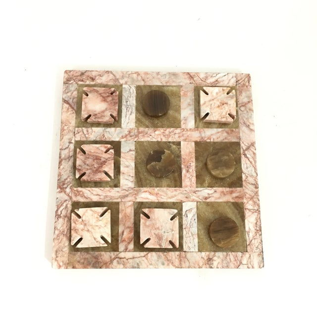 1970s Pink Stone Tic Tac Toe Game Board For Sale - Image 5 of 9