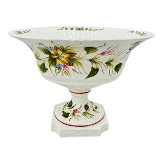 Antique Italian Painted Porcelain Urn Planter For Sale
