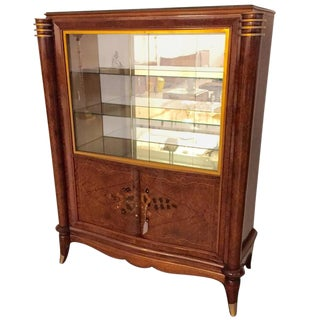Jules Leleu Style French Art Deco Vitrine or Display Cabinet For Sale