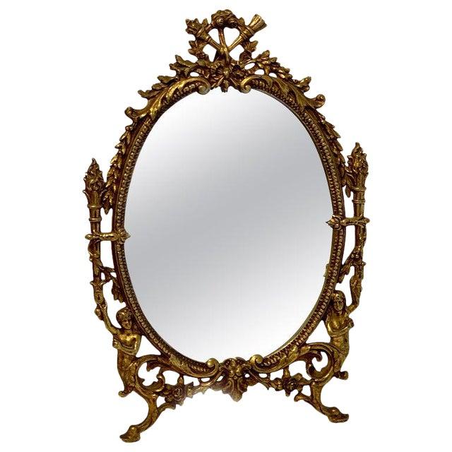 Napoleon III Bronze Dressing Mirror For Sale