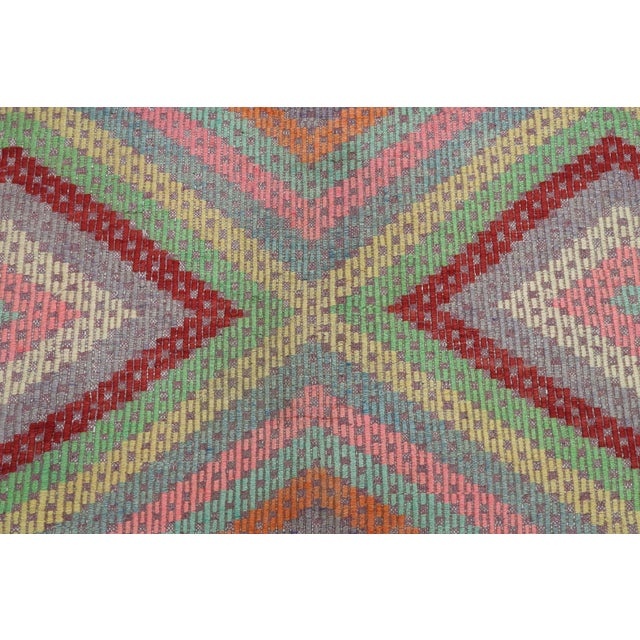 Mid 20th Century Anatolian Kilim Turkish Embroidery Rug For Sale - Image 5 of 13