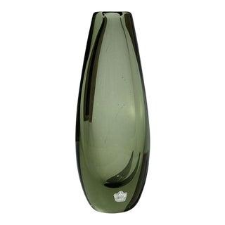 1960s Kosta Sweden Blown Glass Bullet Vase For Sale