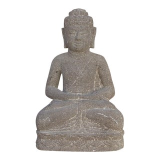 Vintage Stone Seated Buddha For Sale