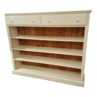 Coastal/Shabby Chic Solid Wood Bookcase For Sale
