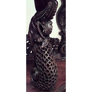 Asian Burmese Style Teakwood Serpentine Shaped Etagere Preview
