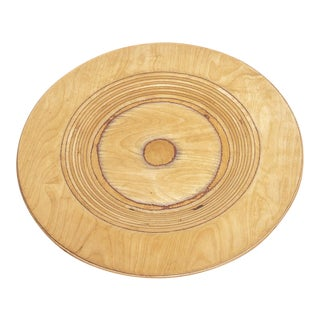 Mid Century Finnish Modern Wooden Plate by Saarinen for Keuruu For Sale