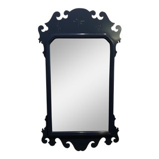 Blue Lacquered Federal Style Mirror For Sale