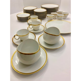 Circa Early 1900's 24k Gold-Rimmed in Diamond Pattern Original Johann Haviland Dinnerware Preview