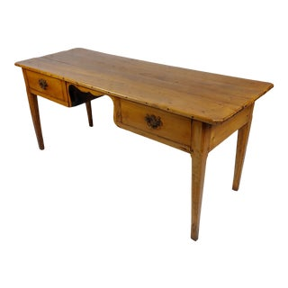 19th Century French Provincial Fruitwood Writing Table or Desk For Sale