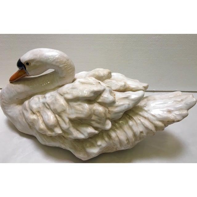 Glazed Ceramic Swans - A Pair - Image 5 of 6