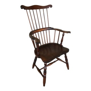 Eldred Wheeler Maple Windsor Comb Back Arm Chair For Sale