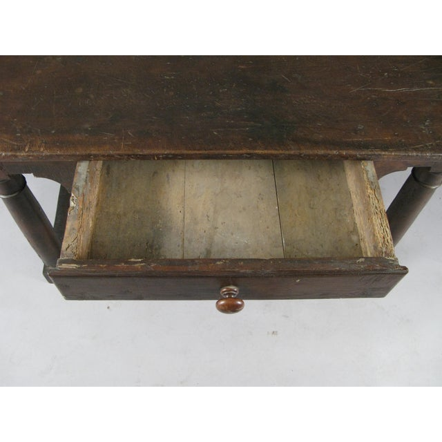 18th Century Antique Italian Walnut Table For Sale - Image 4 of 8
