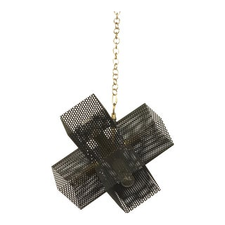 Arteriors Industrial Dax Perforated Steel Chandelier For Sale