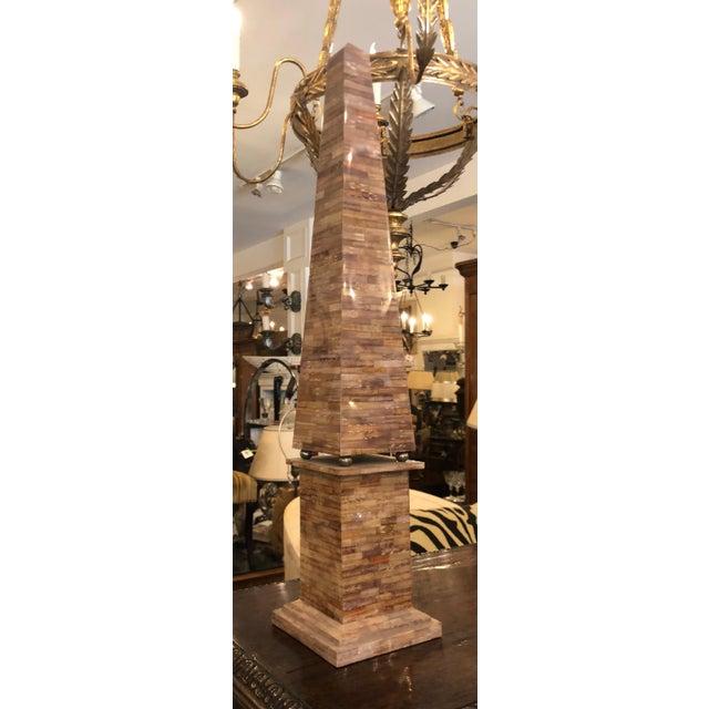 Huge Vintage Designer Trompe l'Oeil Obelisk For Sale - Image 4 of 4