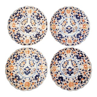 Vintage Imari Japanese Plates-Set of 4 For Sale