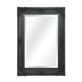 Beaumont Black Solid Wood Wall Mirror For Sale