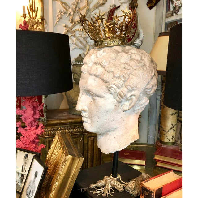 1930s 1930s Greek Mid-Century Head of the God Hermes Sculpture For Sale - Image 5 of 13