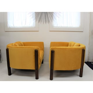 Adrian Pearsall Style Round Back Chairs Pair Preview