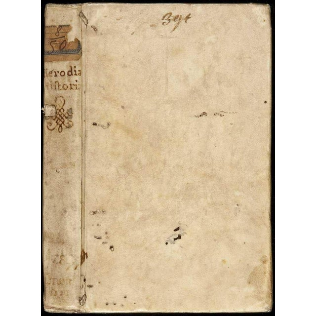 1520s Antique Vellum Book, Herodian's Roman History For Sale - Image 4 of 4