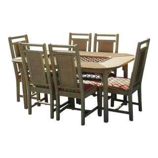 Henry Link Wicker Dining Set, Set of 7 Pieces