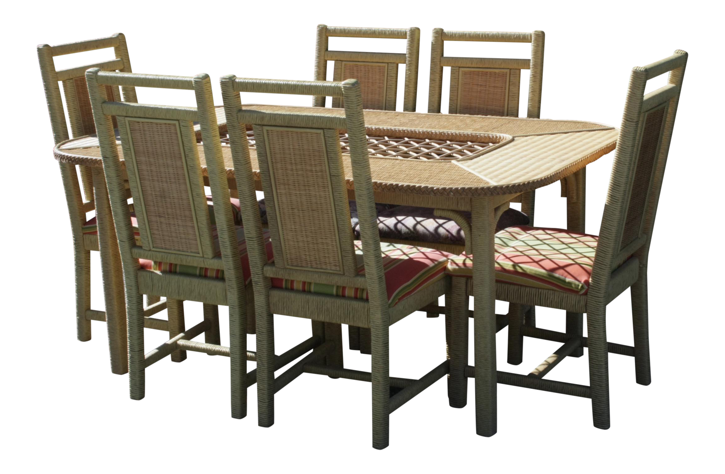 Henry Link Wicker Dining Set, Set Of 7 Pieces   Image 1 Of 11