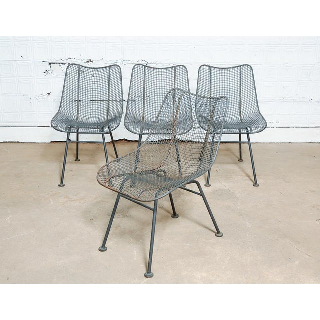 Set of 4 Russell Woodard Wire Chairs For Sale - Image 9 of 9