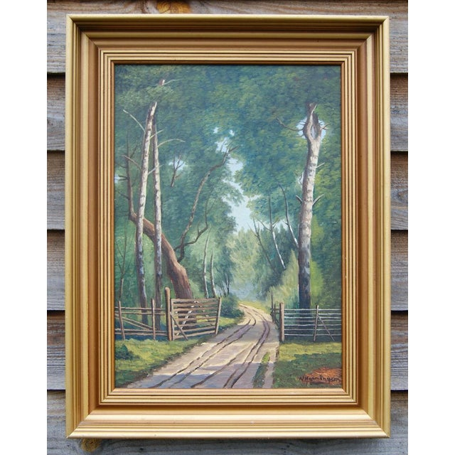 """""""Forestscape"""" Painting by Niels A. Henningsen - Image 2 of 5"""