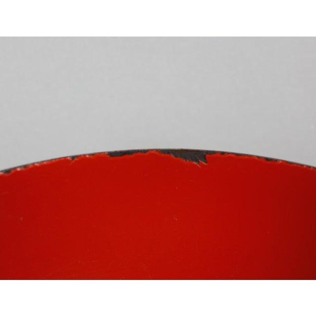 Kaj Franck l Finland Red Enamel Bowl Kaj Franck Mid Century Modern For Sale - Image 4 of 8