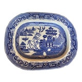 Image of 19th Century Chinoiserie Blue and White Platter For Sale