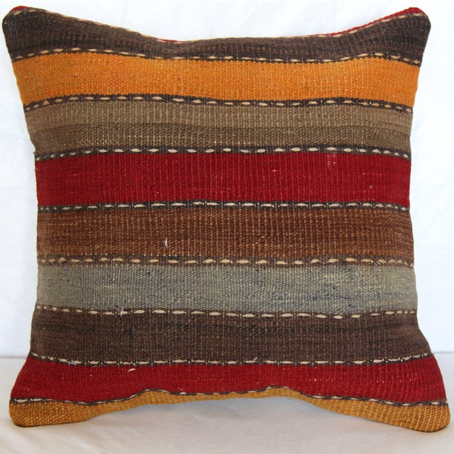 """Turkish Vintage Decorative Handmade Pillow Cover - 16"""" x 16"""" - Image 2 of 7"""