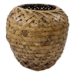 Large Woven Rattan Planter Basket For Sale