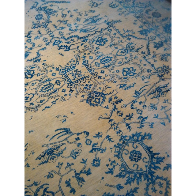 """Erased Hand-Knotted Luxury Rug - 7'11"""" X 9'10"""" - Image 7 of 9"""