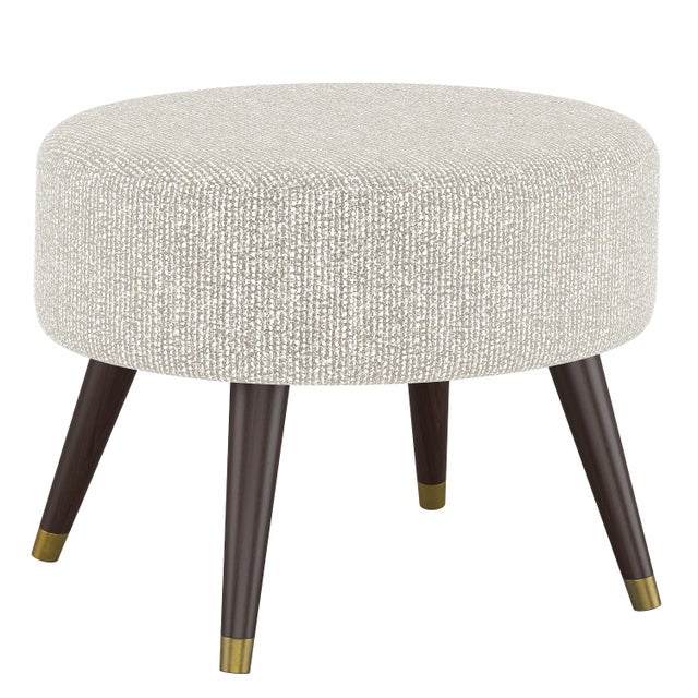 Spritely Home Oval Ottoman in Solitude Natural For Sale - Image 4 of 5