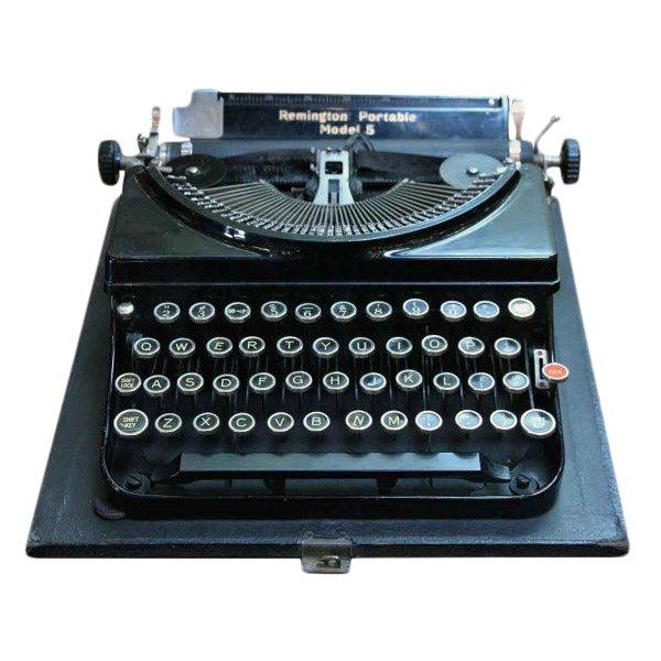 Remington Portable Model 5 Typewriter With Case - Image 1 of 7