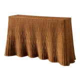 Image of Trompe l'Oleil Wicker Draped Console Table For Sale