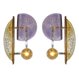 Pair of Murano Glass Geometric Sconces by Fabio Ltd Preview