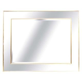 La Barge Hollywood Regency Style Rosetone Framed Brass Wall Mirror For Sale