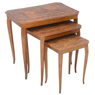 Set of Three Neoclassical Nesting Tables For Sale