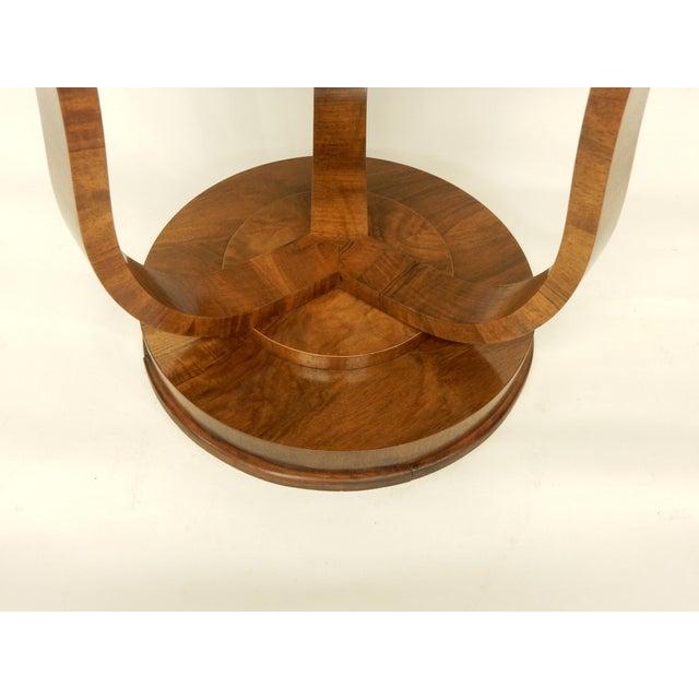 Elegant Tulip Shaped Art Deco Walnut Table For Sale - Image 4 of 7