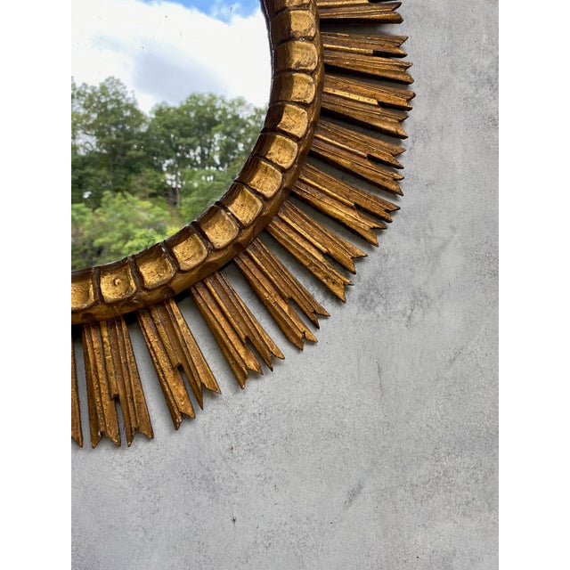 Spanish Giltwood Sunburst Mirror For Sale - Image 12 of 12