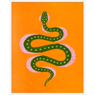 "Medium ""Marmalade the Snake"" Print by Willa Heart, 32"" X 40"" For Sale"