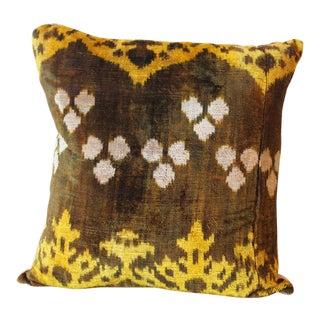 Green Velvet Throw Pillow For Sale