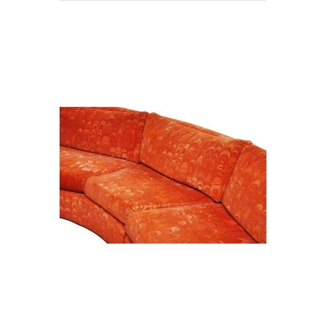 Mid 20th Century Metropolitan 3 Pc. Sectional Sofa in Jack Lenor Larsen Velvet For Sale - Image 5 of 10