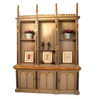 Neo-Gothic Bookcase For Sale