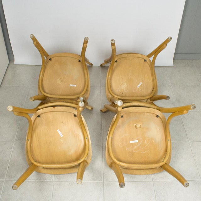 Yellow Radomsko Thonet Bentwood Cafe Chairs - Set of 4 For Sale - Image 8 of 10