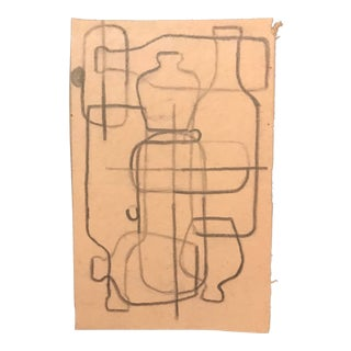 1958 Mid-Century Modern Drawing by Phyllis Myrick For Sale