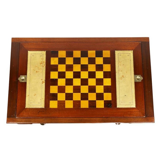 Queen Anne Queen Anne Style Mahogany Games Table For Sale - Image 3 of 10